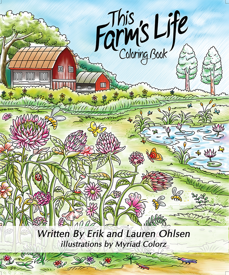 This Farm's Life Coloring Book cover
