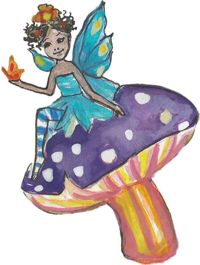 Fairy on Mushroom - from The Living Playground by StoryScapes