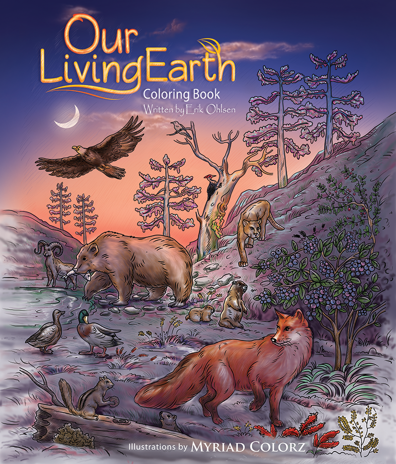 Our Living Earth Coloring Book cover